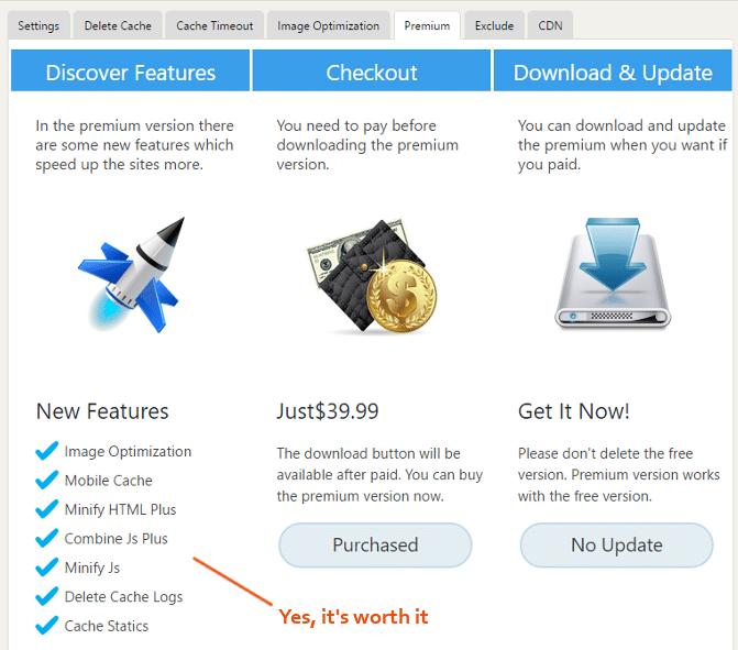 Premium Tab configuration
