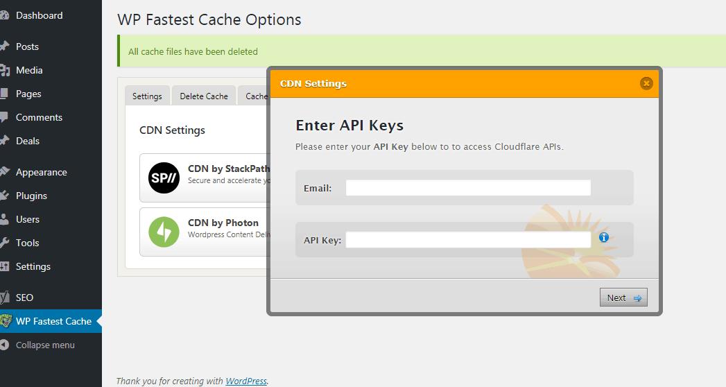 CDN Tab configuration