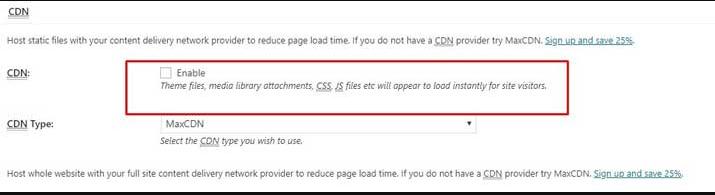 CDN settings
