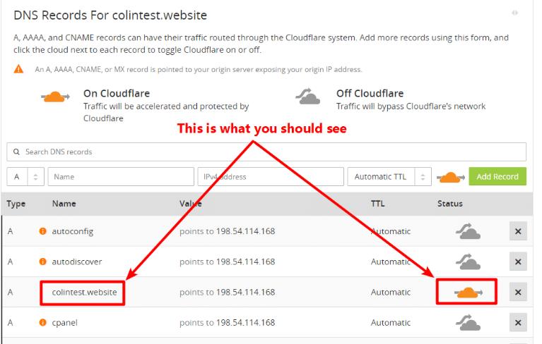 Cloudflare Settings for WordPress
