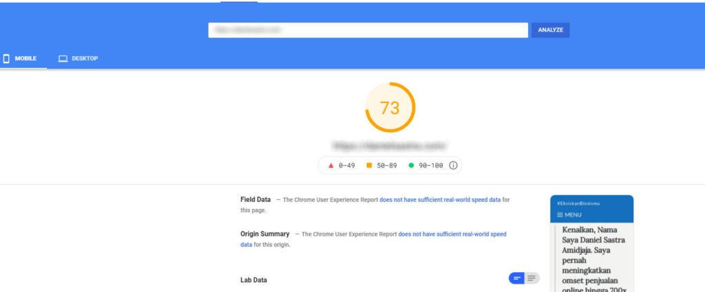 Google Mobile Speed