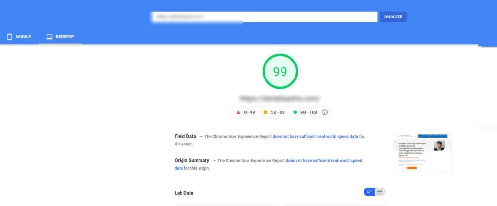 Google-desktop-speed-after