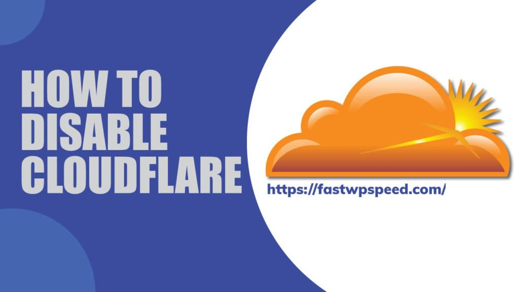 How to disable Cloudflare