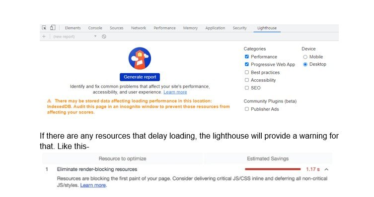 Audit your page with Lighthouse