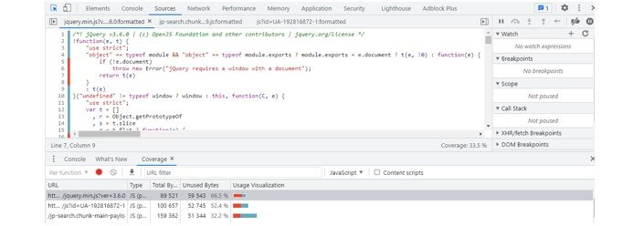 Detect Unused JavaScript