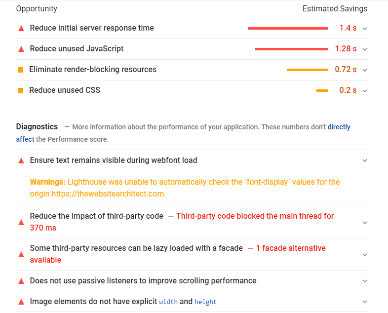 get reports ofsite speed issues by Google PageSpeed Insights
