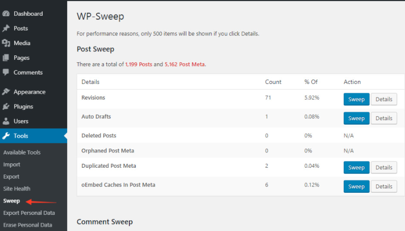 wp sweep Plugins to Clean Your WordPress Database