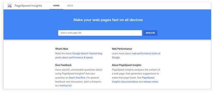 Google PageSpeed Insights OVERIVEW